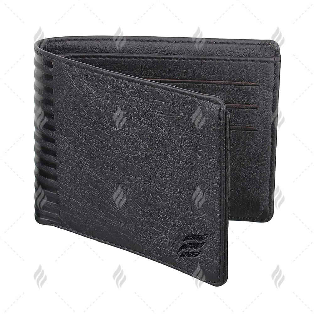 Black Unique Natural Grain Exclusive Leather High Quality Men Wallet