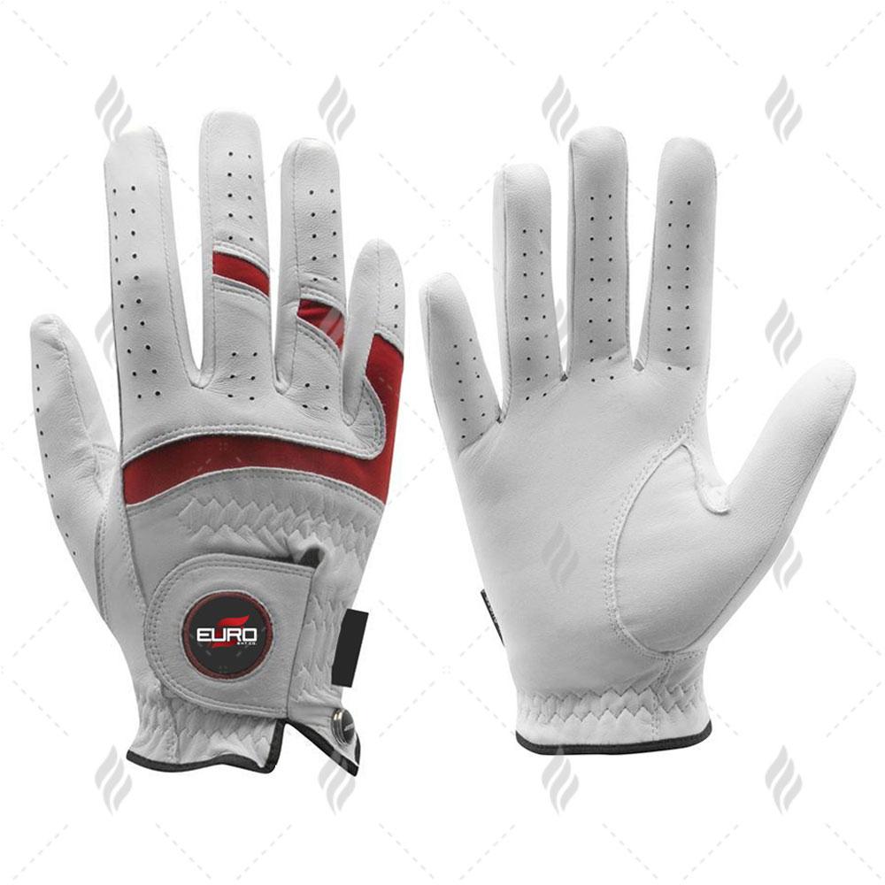 Snow White Cabretta Leather Golf Glove | Factory Hot Sale Great Quality White Cabretta Leather Golfglove