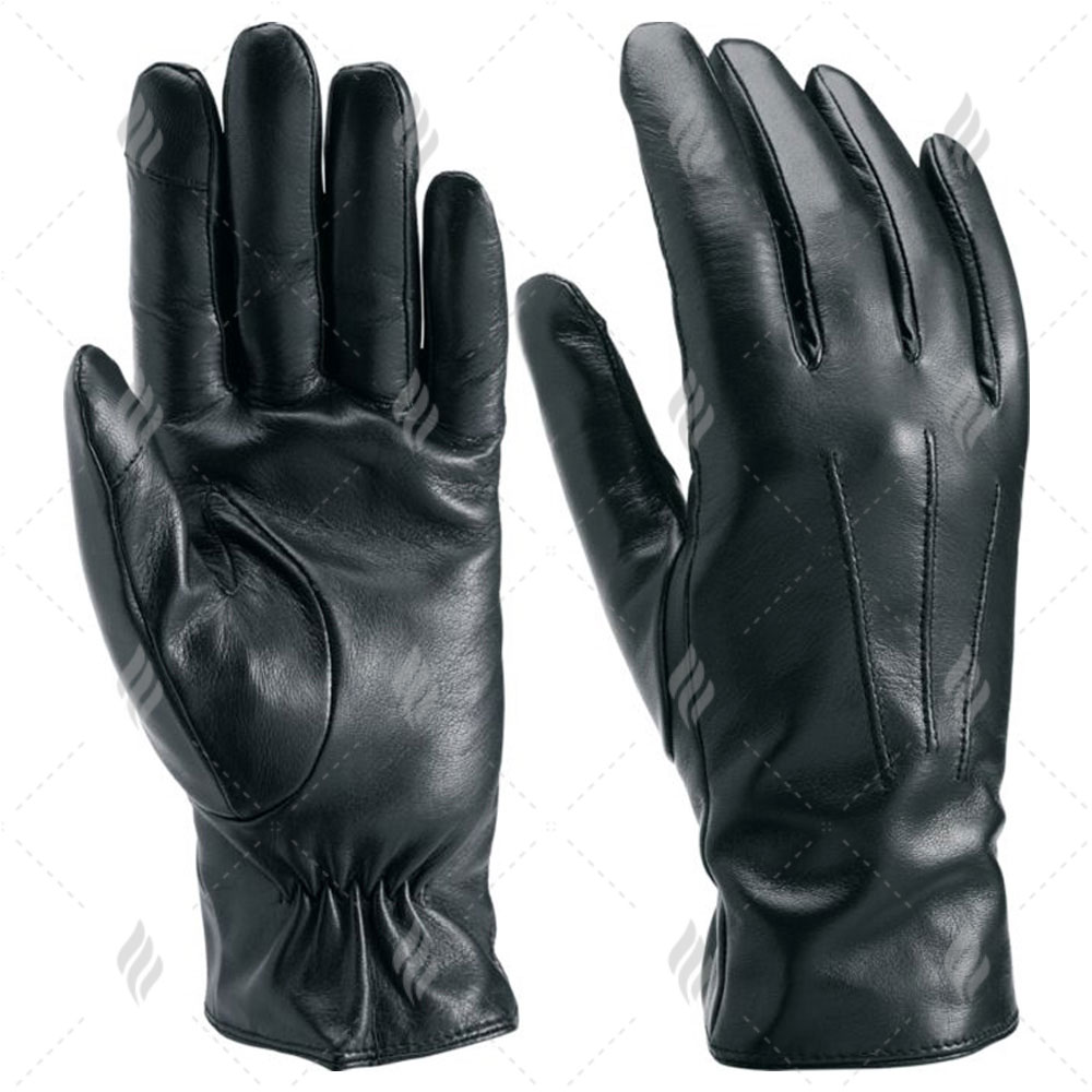 Touch Screen Men Fashion Leather Dressing Gloves | Men Unlined Leather Dress Gloves