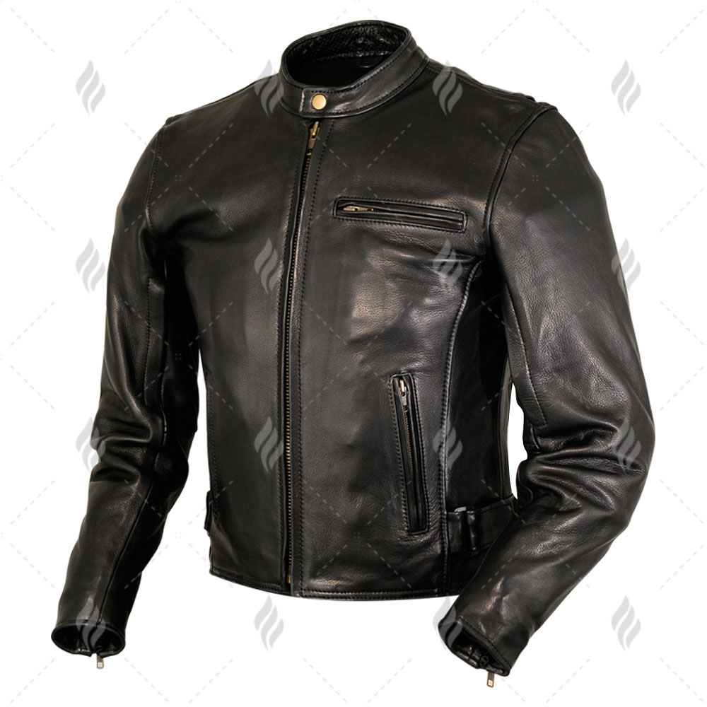 9fdeefb0d 2019 Autumn Latest Design Slim Fit Mens Leather Jacket With Metal ...
