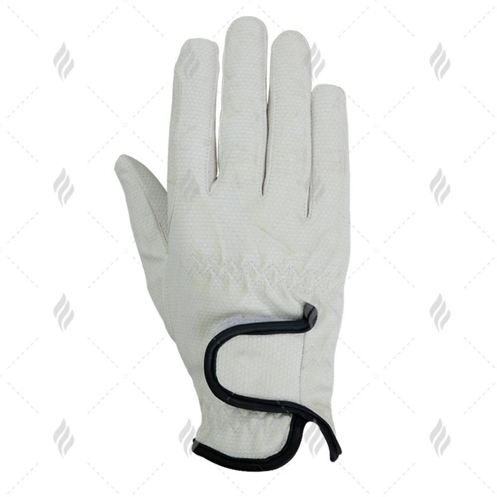 Black or White Horze Women/'s Leather Mesh Riding Gloves