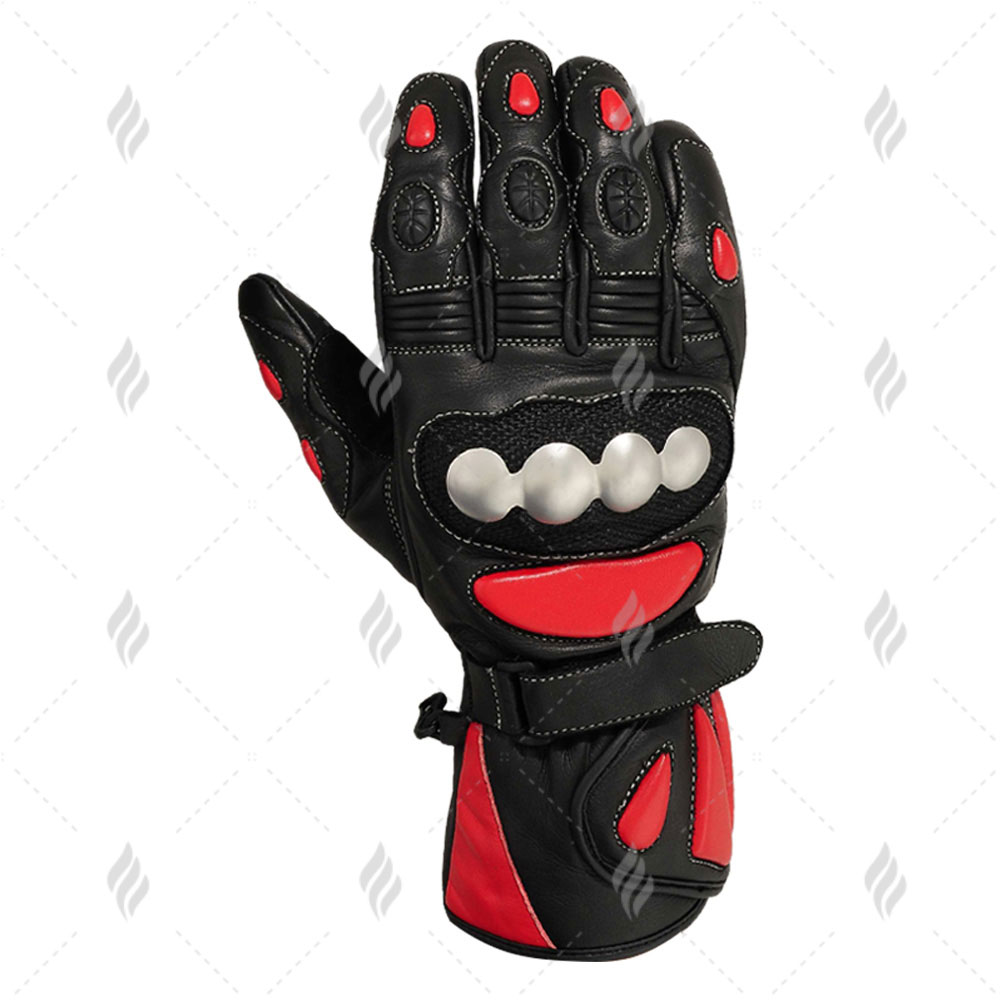 Customized Leather Motorcycle Gloves   Top Quality Men Motorbike Leather Gloves