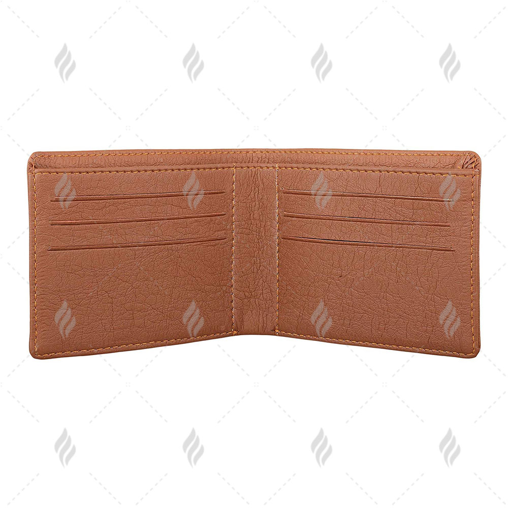 Bi Fold Leather Men Exclusive High Quality Wallet with Unique Natural Grain