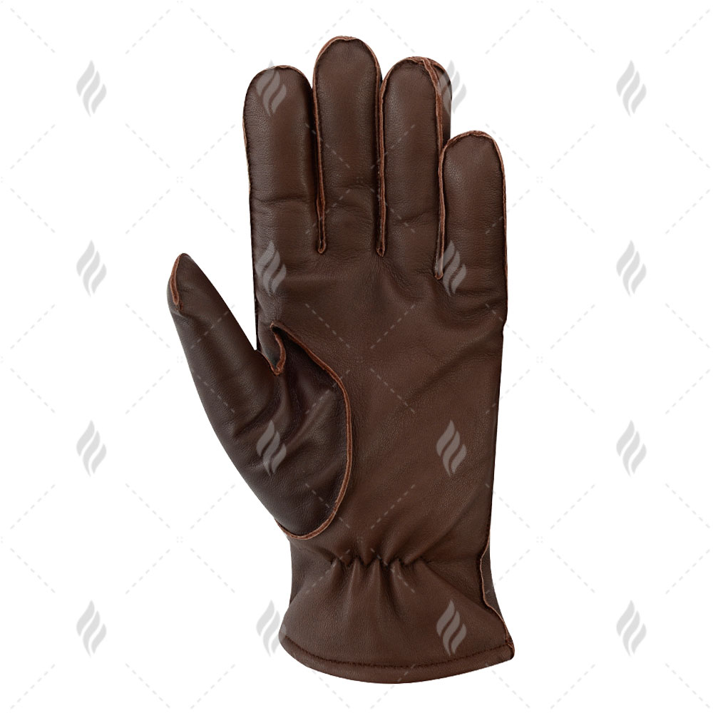 Women Warm Winter Dressing Genuine Leather Glove Double Face Leather Glove